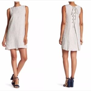 Theory Keshelle Back Lace Linen Dress
